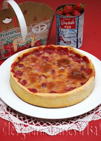 Tarte aux fraises et sirop d'érable