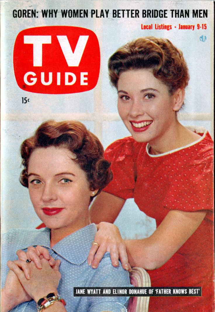 TV Guide, Jan. 9, 1960 — Jane Wyatt & Elinor Donahue in Father Knows Best (1954-60, CBS)