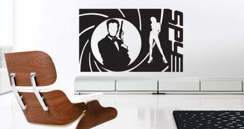 Cool wall decals for your room This spy agent action inspired wall decals will look good in any room such as the guy's den, bedroom and movie room.    Visit this link for more designs: https://limelight-vinyl.myshopify.com/
