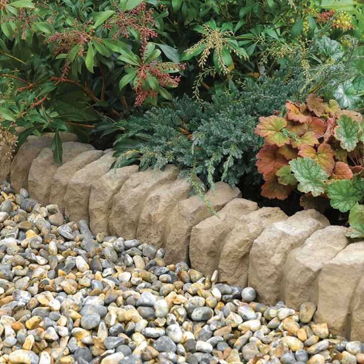 Kieselsteine Garten: Ideen Für Gartengestaltung Beet Einfassung Kieselsteine