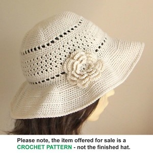 Crochet Sun Hat Pattern for purchase