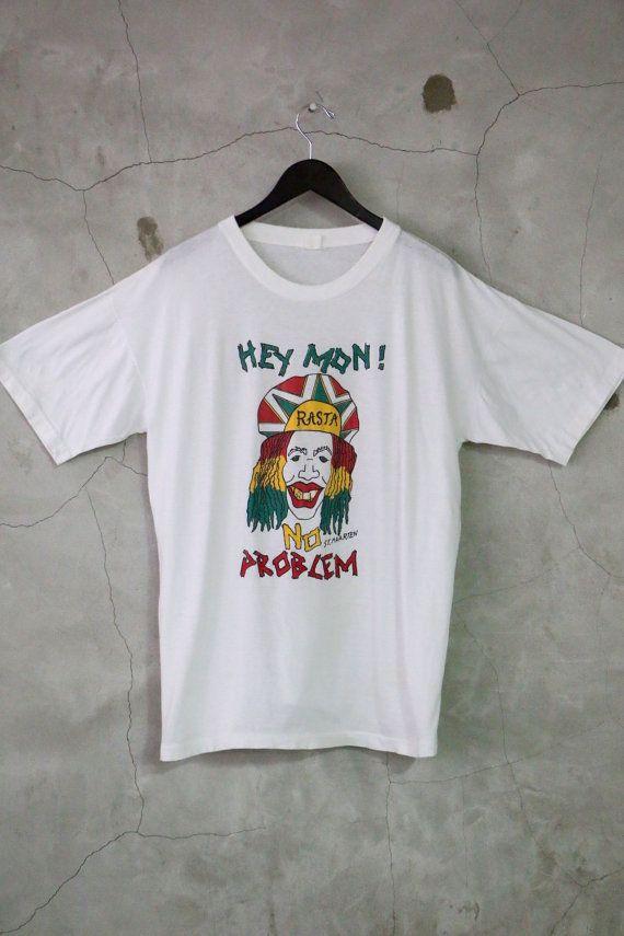vintage t shirt rasta shirt St. Maarten shirt by imtryingtofocus