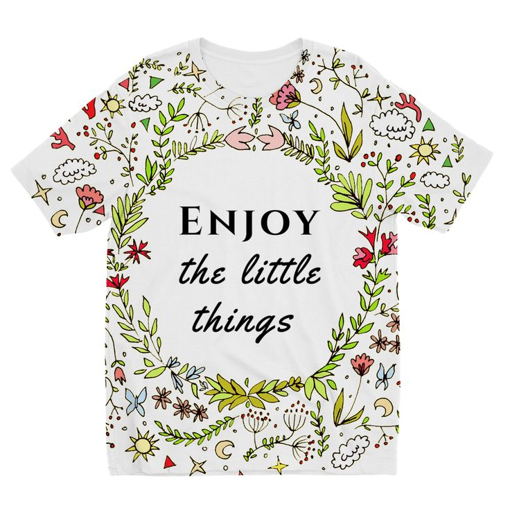 Enjoy Little Things Kids TShirt https://blooom-store.myshopify.com/products/kids-sublimation-tshirt