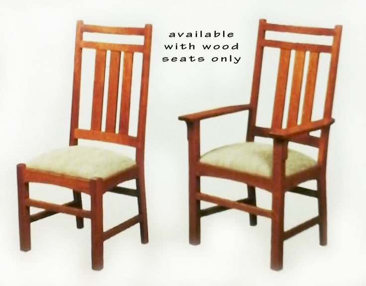 Exceptional Prairie Side Chair And Arm Chairs   Available With Wood Seats Only   Solid  Hardwood Chairs