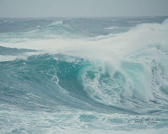 ocean beach print wave beach large print by DreamsandNotions