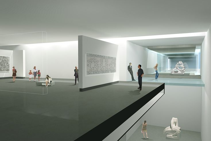 One of the exhibition space in first floor.    #art #gallery #sculpture #visitors #culture #museum