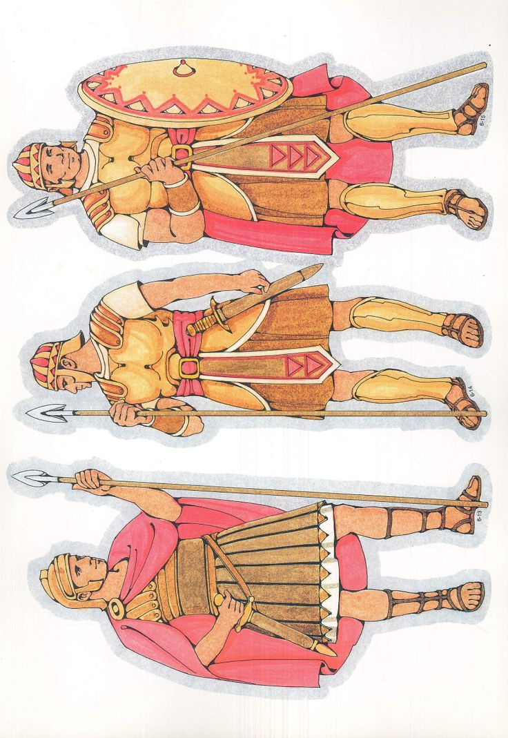 Flanelplaat Romeinse soldaat / Primary Cutouts