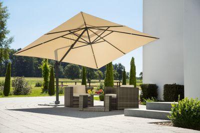 Schneider Sonnenschirm Rhodos Grande - eleganter Ampelschirm für viel Schatten