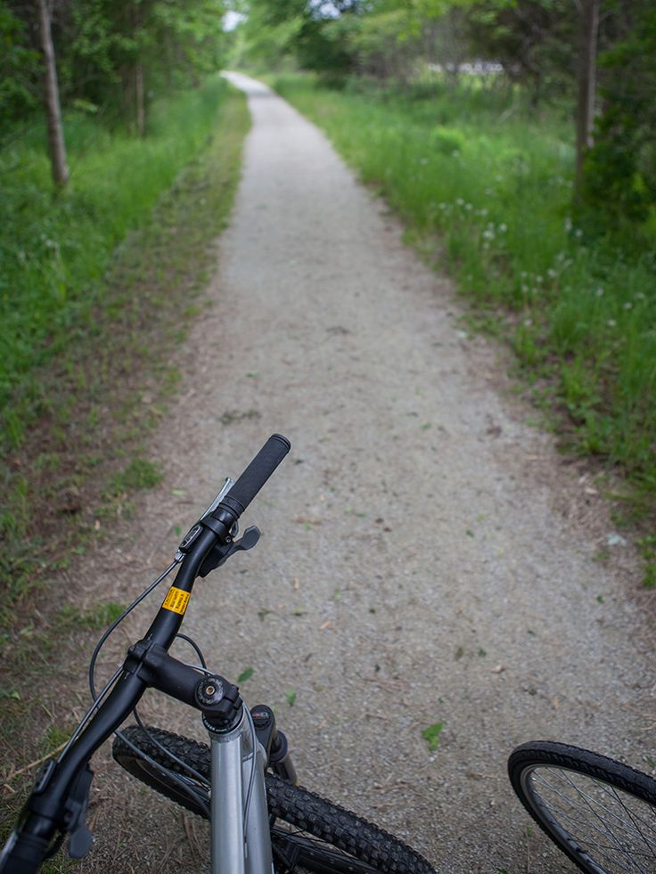 Biking on the trail at Georgian Trail Collingwood Ontario #GeorgianBay #Collingwood #Thornbury #Ontario #Camping