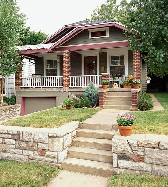 Bungalow Paint Schemes: Really Like This Color Scheme Of This California Bungalow