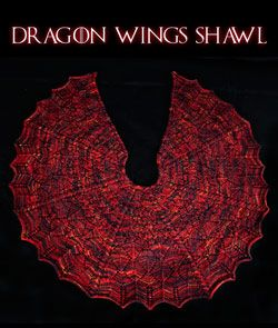 Check out the Dragon Wings Shawl pattern and Fire Dragon custom color from Mountain Colors, both inspired by the Game of Thrones TV show and exclusively at FiberWild!: