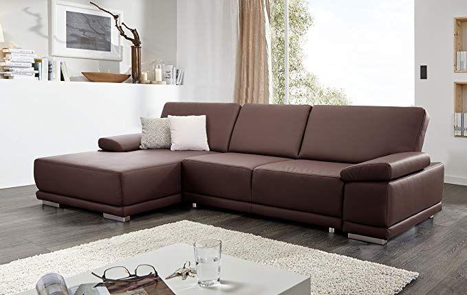 CAVADORE Ecksofa Corianne / Couch Form L Kunstleder und modernes Design / …