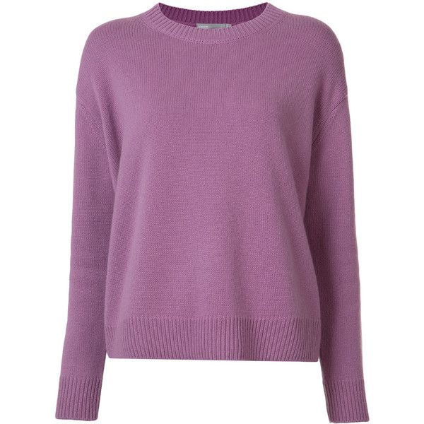 Vince ribbed trim jumper (578,725 KRW) ❤ liked on Polyvore featuring tops, sweaters, purple, purple jumper, jumpers sweaters, vince tops, jumper top and vince sweaters