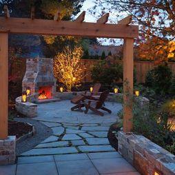 Fireplace in back garden