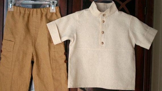 boy's shirts / linen shirt boy / toddler shirt /cute por DressesAnd