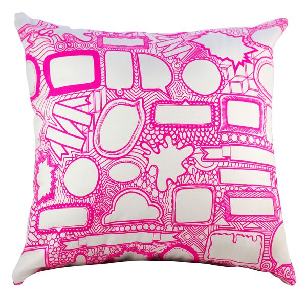 Leave A Comment Cushion Cover Box Set Pink   Designed by Dear Diary   Krinkle Gifts