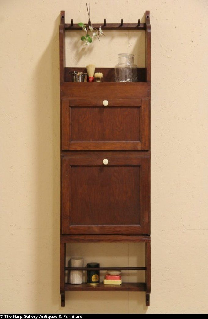 Merveilleux Barber Shop 1910 Wall Towel Caddy, Bath Cabinet