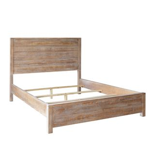 Modern panel bed frame