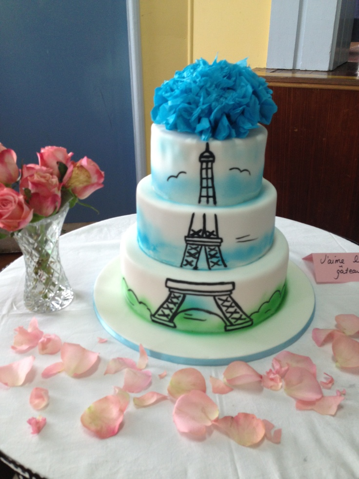 Cake at french themed kitchen tea c a k e s pinterest for Paris themed kitchen ideas
