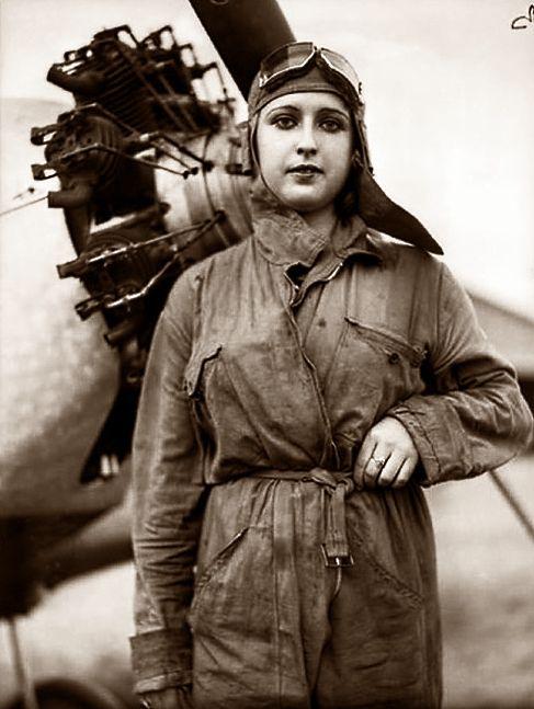 Carmen Peche, pilote de l'armée républicaine espagnole, 1936.