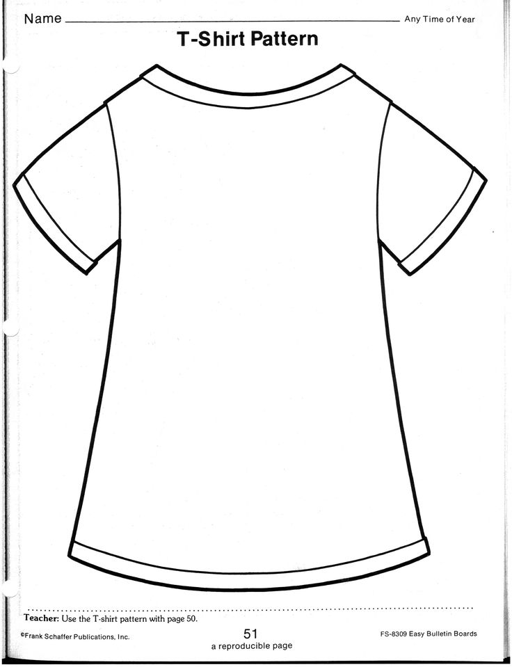 tshirt template to write on for Back to School Night ...