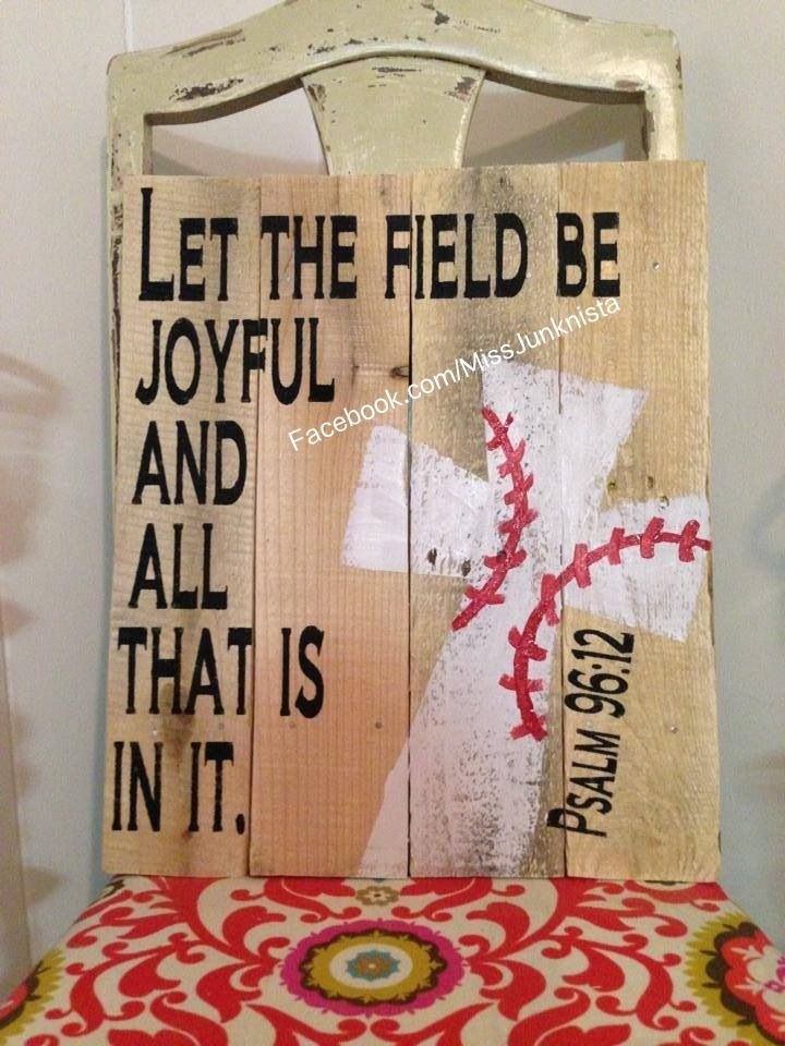 Let the field be joyful Baseball cross or could use as a farming theme too...a good cross-reference