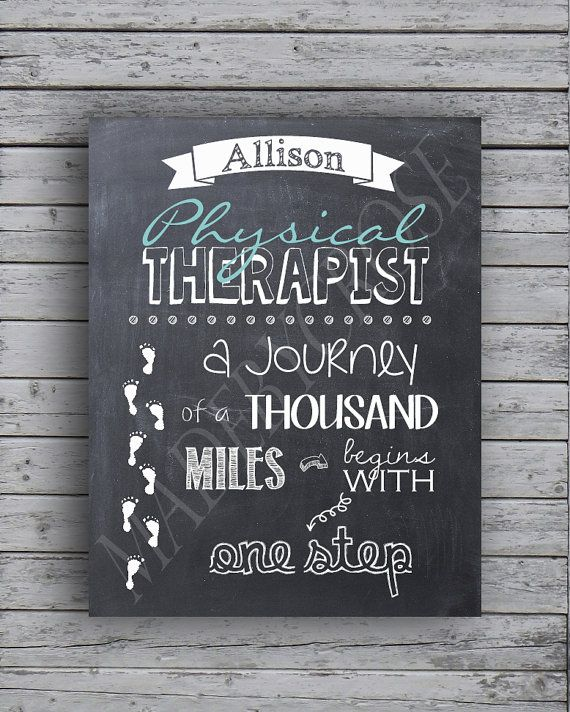 Physical Therapist  A Journey of a thousand miles by MadeByCRose