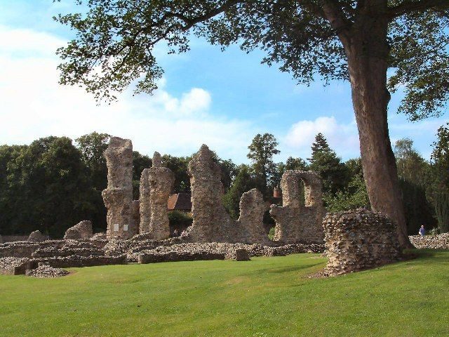 The Abbey ruins at Bury St. Edmunds, England---so beautiful and peaceful
