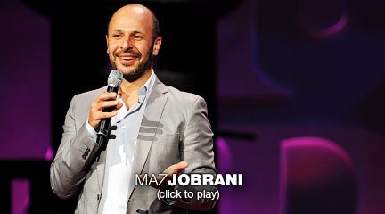 """Maz Jobrani: Did you hear the one about the Iranian-American?  A founding member of the Axis of Evil Comedy Tour, standup comic Maz Jobrani riffs on the challenges and conflicts of being Iranian-American -- """"like, part of me thinks I should have a nuclear program; the other part thinks I can't be trusted ..."""""""