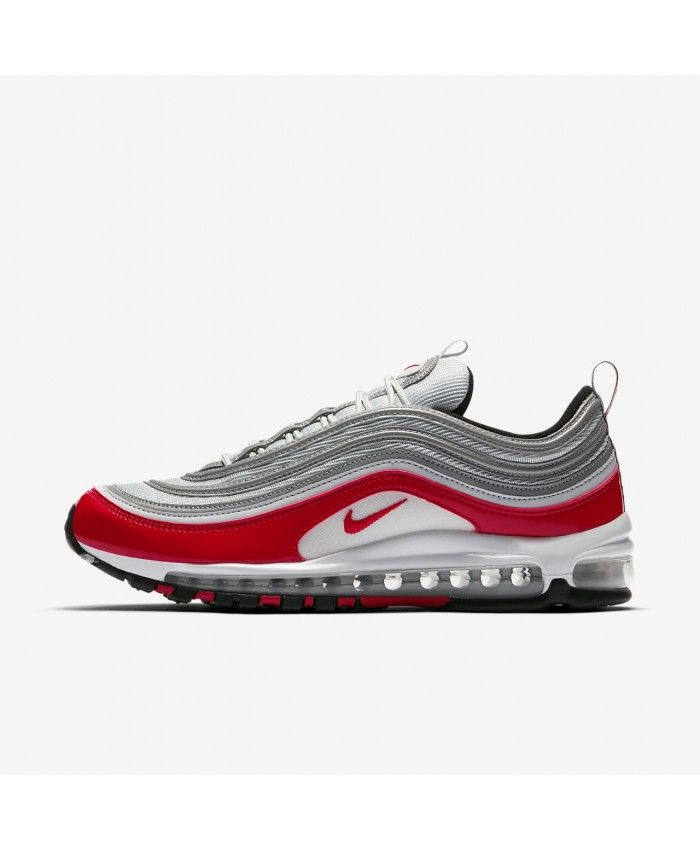 08ca0299e4fc Nike Air Max 97 Pure Platinum Black White University Red 921826-009 ...