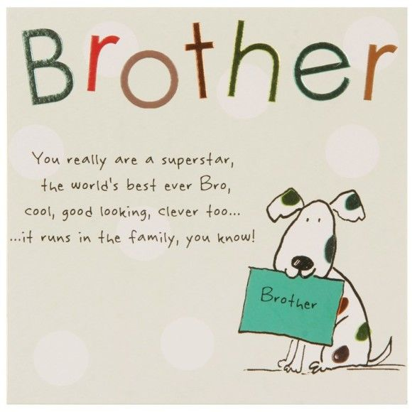 Good Quotes For Brother: Happy Birthday Best Brother Cards