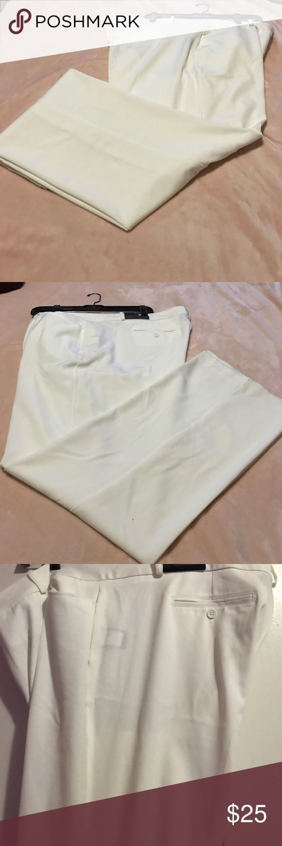 White slacks White modern fit, sits on the waist, relaxed through the hip and thigh trousers Worthington Pants Trousers
