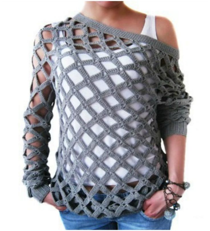 Grid Style Blouse Crochet Tutorials