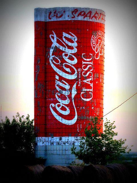 Coca-Cola silo -    Emporia, Kansas.: Cocacolatrays Cocacolaglass, Coca Cola Silo, Porcelainsigns Cocacolacups, Cocacola Cocacolasigns, Silo Emporia, Photo, Cocacolawebsite Cocacolafridge
