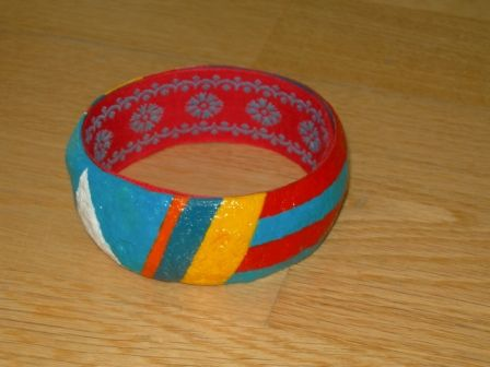 [Papel Mache] Pulseira 1 | Flickr - Photo Sharing!