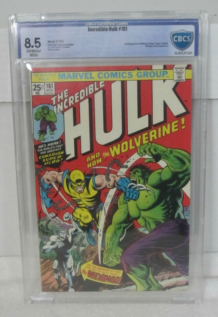 The Incredible Hulk #181 (Nov 1974, Marvel) CBCS 8.5 Off-White/White Pages