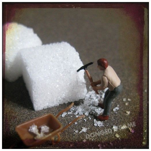 Sugar sugar 8x8 photo surreal art miniature by Dongedyframe