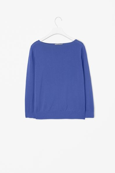 Cotton boat-neck top