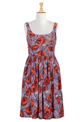 Full Bust Dress Review: Tulips for Fall with eShakti
