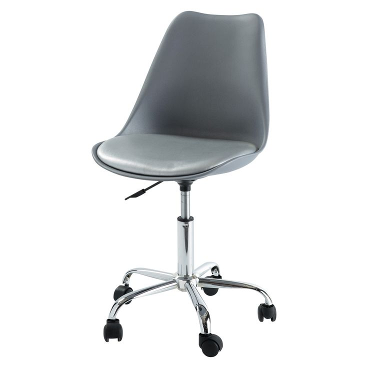 Silla de escritorio con ruedas gris  Bristol