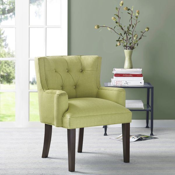 Margo Light Green Tufted Back Accent Chair Overstock Shopping Great Deals On