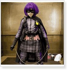 Hit-Girl from Kick-Ass cosplay