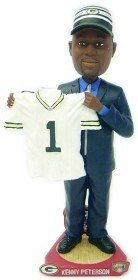 Green Bay Packers Kenny Peterson Draft Pick Forever Collectibles Bobble Head