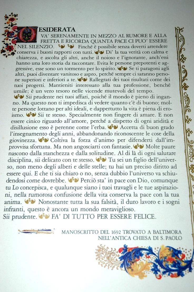 Desiderata (da un manoscritto del 1692)