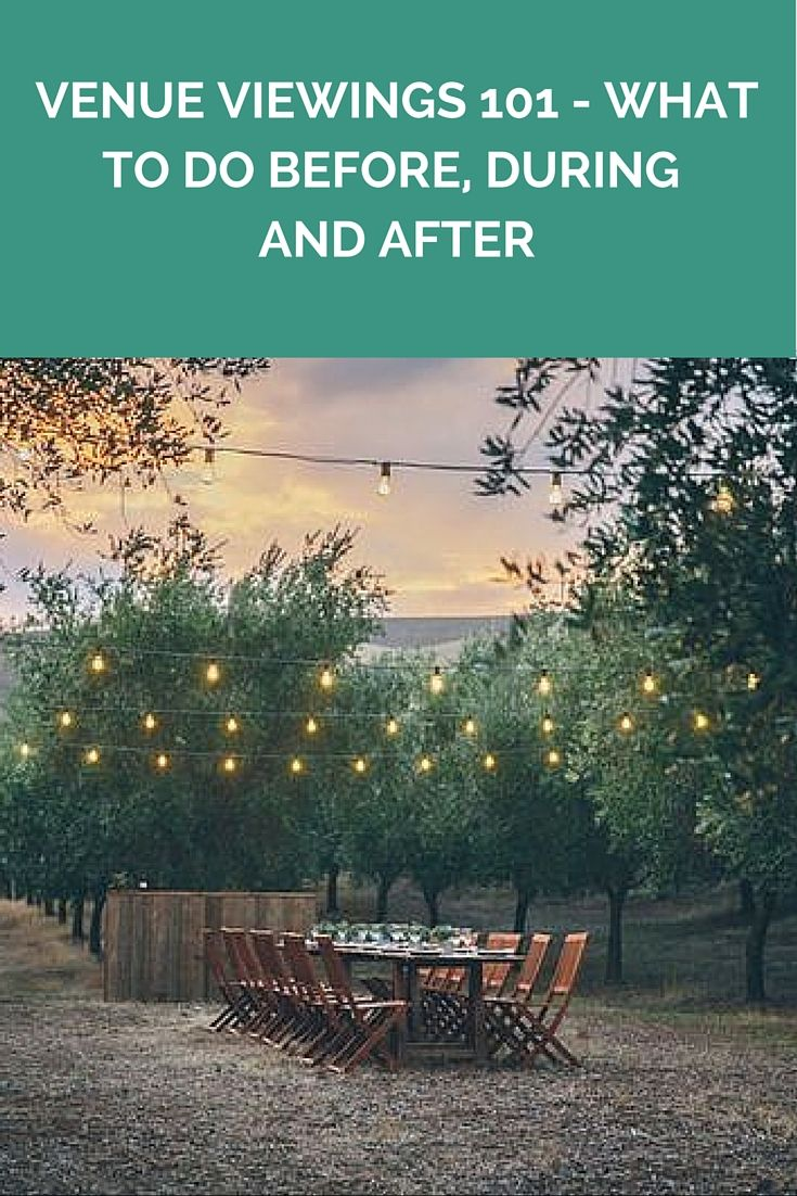 Venue Viewings 101 - What To Do Before, During And After http://www.wedshed.com.au/wedding-venue-viewings-101-what-to-do-before-during-and-after/