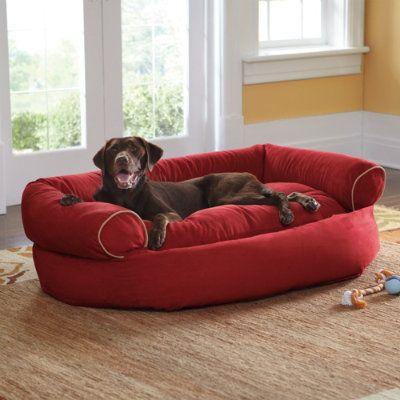"Sofa Dog Bed - Grandin Road Medium: Overall, 35""W x 27""D x 15""H. Inner, 26""L x 17""W $99 Large: Overall, 42""W x 32""D x 16""H. Inner, 31""L x 19""W $129 Extra Large: Overall, 48""W x 38""D x 17""H. Inner, 32""L x 25""W $169"