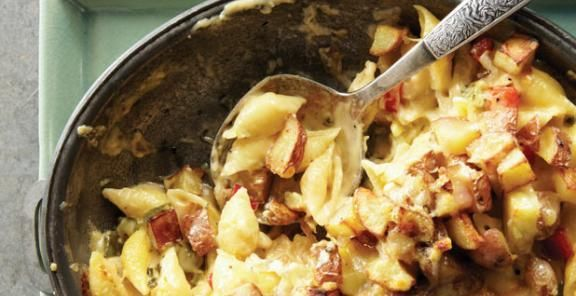 Spicy 'Home Fries' Mac and Cheese | KitchenDaily.com