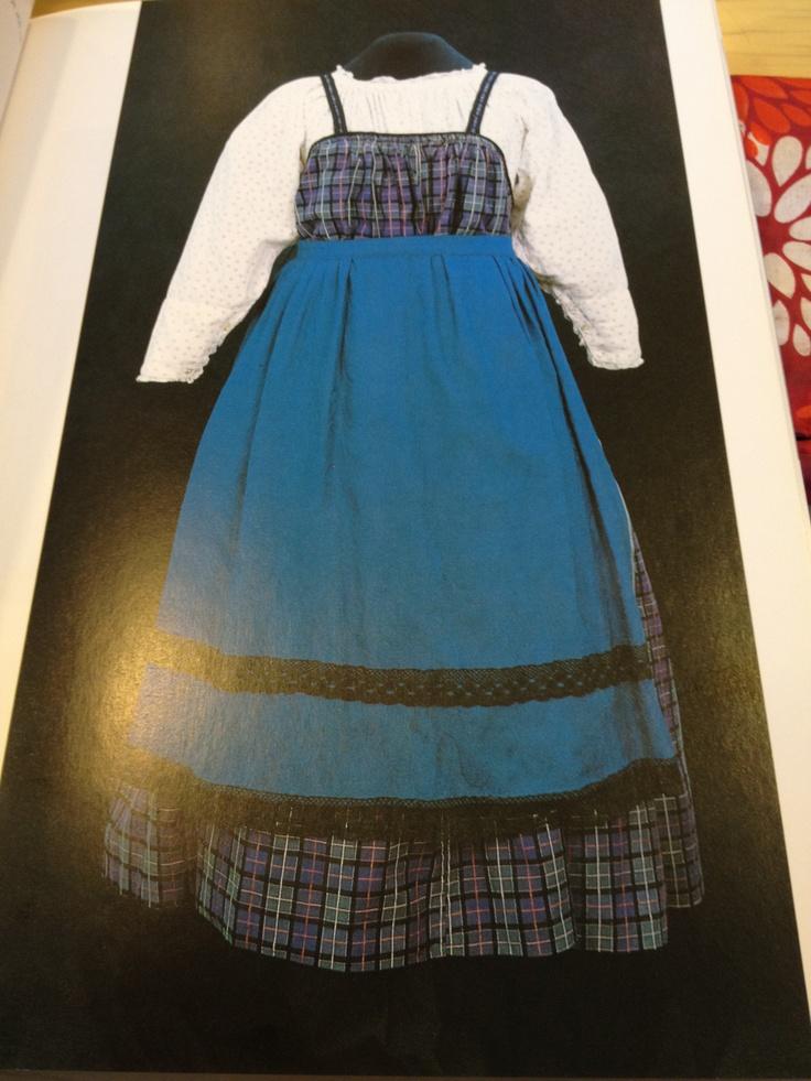 A blue apron
