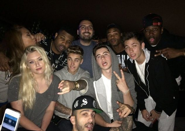 'Police called to Justin Bieber's home' after star throws wild party with Johnny Manziel, Floyd Mayweather and Chantel Jeffries