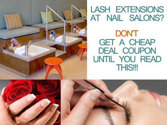 Thinking of getting faux or authentic Siberian mink eyelash extensions at your local nail salon or wanna purchase a cheap coupon deal online? DON'T even think about it until you read THIS to help you avoid a bad or unsafe eyelash extensions application! Wanna save $$$ by getting eyelash extensions at a nail salon using a cheap coupon deal??? DON'T even think about it until you read THIS article. #eyelashextensions #beautysalons #deals #lashes